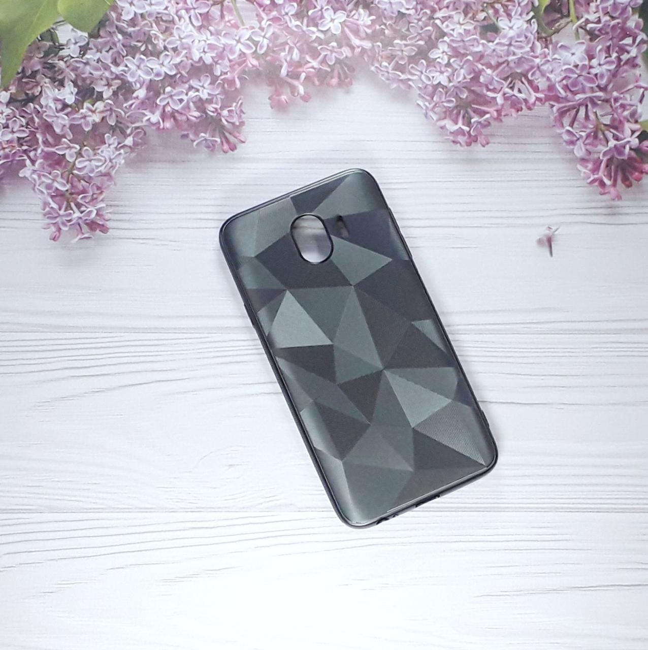 Чехол накладка Rhombus на Samsung J4 (2018), J400,  Black