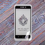 Защитное стекло Honor 3D Xiaomi Redmi 4a black, фото 5