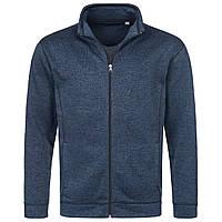 Флисовая куртка мужская темного синего цвета