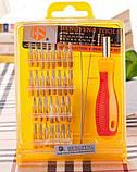 Набор отверток инструментов 32 в 1, для ремонта телефонов и электроники TyT, фото 3
