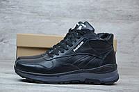 Мужские зимние ботинки на меху в стиле Reebok, черные 42