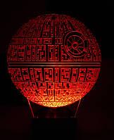 Ночник Звезда Смерти (Звездные войны) на батарейке Светляччок (00065)