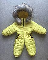 Детский зимний комбинезон на девочку цельный 1-2 года