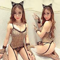 Леопардовый эротический костюм | Леопардовий еротичний костюм, фото 1