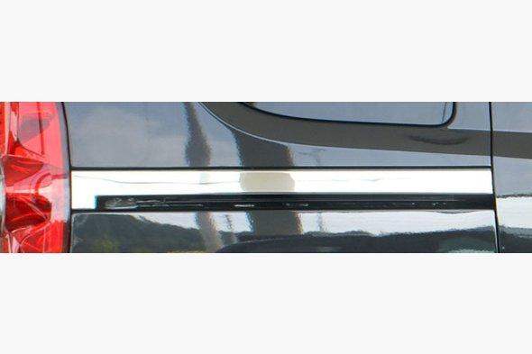 Молдинг под сдвижную дверь широкий (2 шт, нерж.) Fiat Doblo III nuovo 2010↗ и 2015↗ гг.