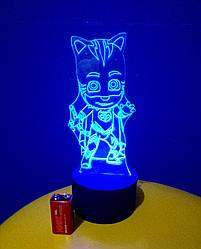 3d-світильник Кетбой (герої в масках), 3д-нічник, кілька підсвічувань (на батарейці)