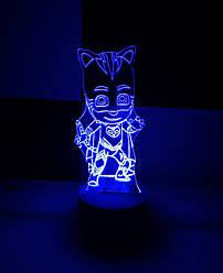 3d-світильник Кетбой (Герої в масках), 3д-нічник, кілька підсвічувань (батарейка+220В)
