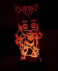 3d-світильник Кетбой (герої в масках), 3д-нічник, кілька підсвічувань (на пульті)