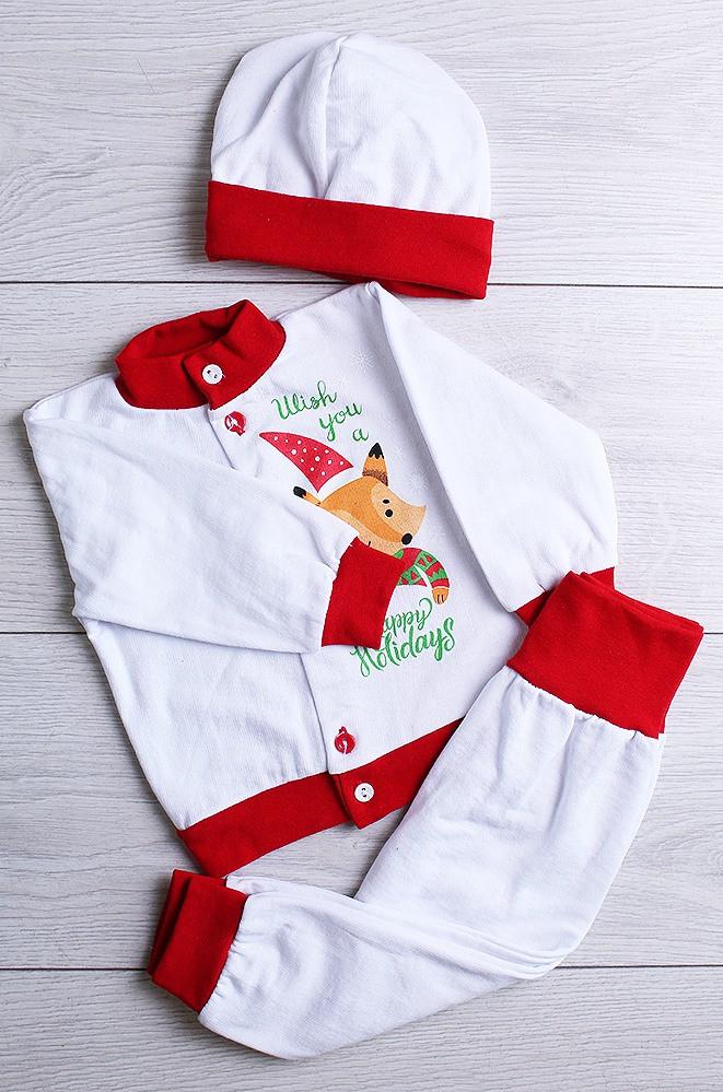 Комплект детский новогодний с начесом 0033