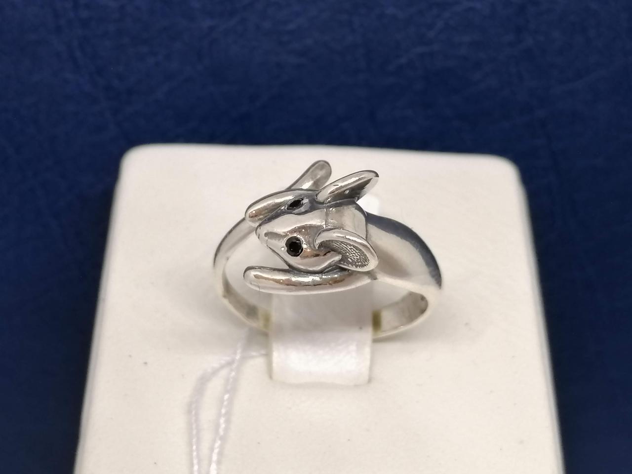 Серебряное кольцо с фианитами. Артикул 71413Ч* 16