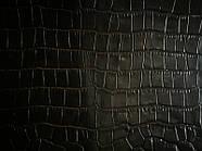 Галантерейная кожа Крокко черная, фото 3