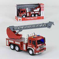 Спецтехника Пожарная машина инерционная, со светом и звуком - 186355