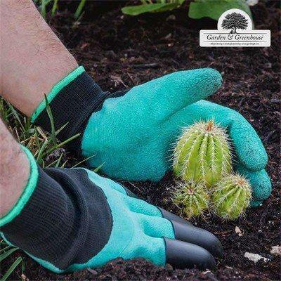Перчатки садовые с когтями Garden Gloves для сада и огорода TyT