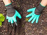 Перчатки садовые с когтями Garden Gloves для сада и огорода TyT, фото 3