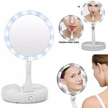 Увеличительное зеркало для макияжа с подсветкой Swivel Brite TyT
