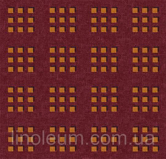 Ковролин флокированное покрытие Flotex vision pattern 600012 Cube Chocolate