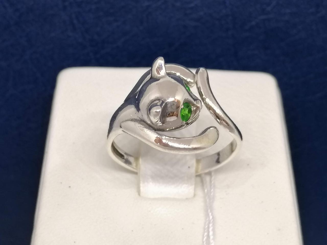 Серебряное кольцо с фианитами. Артикул 81611З* 17,5