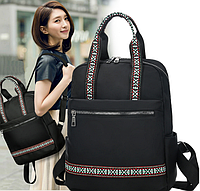 Элегантный женский рюкзак ETHNO водоотталкивающий черный