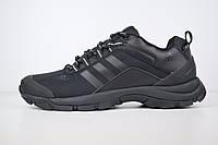 Мужские зимние кроссовки в стиле Adidas Climaproof, текстиль, кожа, черные 41 (26 см)