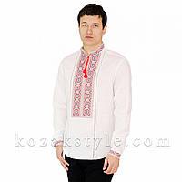 Вишиванка  біла з багатобарвною вишивкою, фото 1