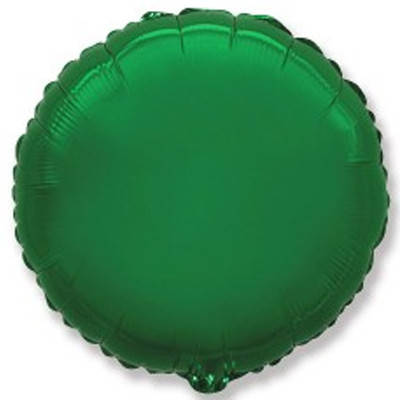 "Фол шар мини Flexmetal 9""/22см Круг металлик зеленый (ФМ), фото 2"