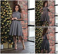 Р-ри 50-58 Ошатне плаття люрекс з сіточкою Батал 20510, фото 1