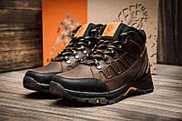 Мужские зимние кожаные ботинки Columbia NS Chocolate (реплика)