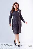 Ангоровое платье для полных Бочонок графит, фото 1