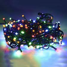 Светодиодная Гирлянда нить 101 led RGB разноцветная (черный провод) 9 м