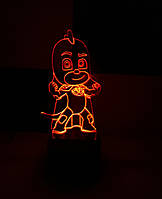 3d-светильник Гекко (Герои в масках), 3д-ночник, несколько подсветок (на батарейке)