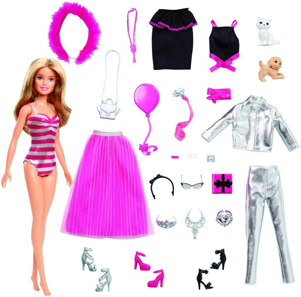Barbie Барби Модница Адвент календарь 2019 с одеждой и аксессуарами Barbie Careers Advent Calendar Индонезия