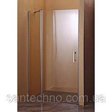 Дверь стеклянная для душа распашная Sansa SH-707 профиль brushed/стекло прозрачное