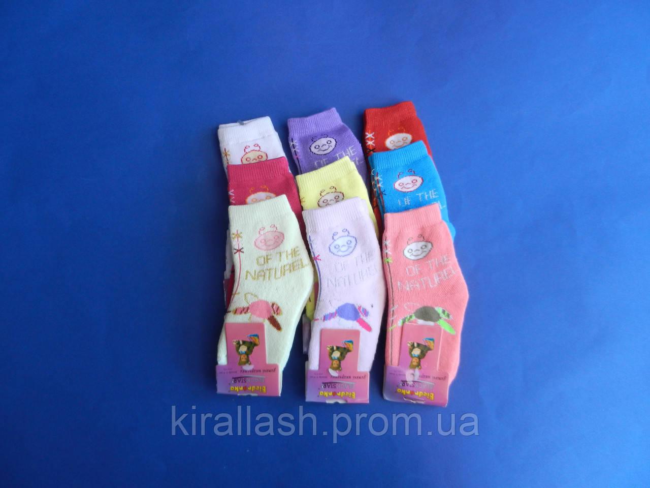 """АКЦИЯ! Носки (0-6 месяцев) махровые """"Biedronka"""" для девочек  УКРАИНА"""