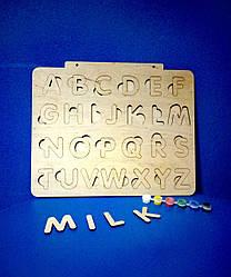 Азбука деревянная Английский Светляччок (Ф00001(АНГ))