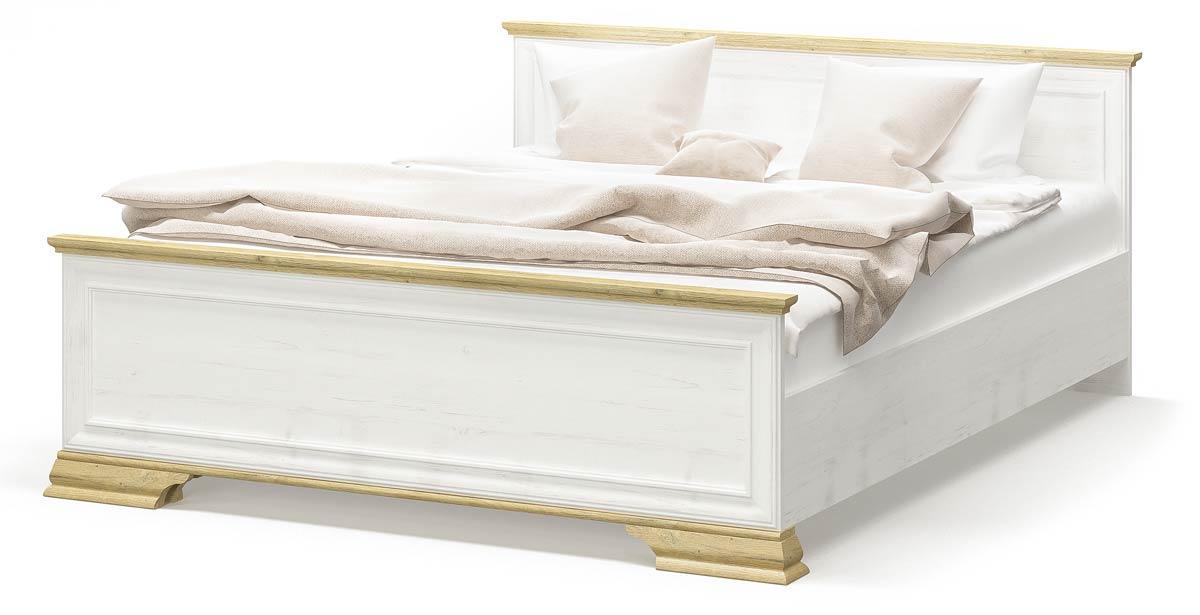 Кровать Ирис 160х200 Андерсон пайн + Дуб золотой с ламелями Мебель Сервис (170.2х207.4х81.2 см)