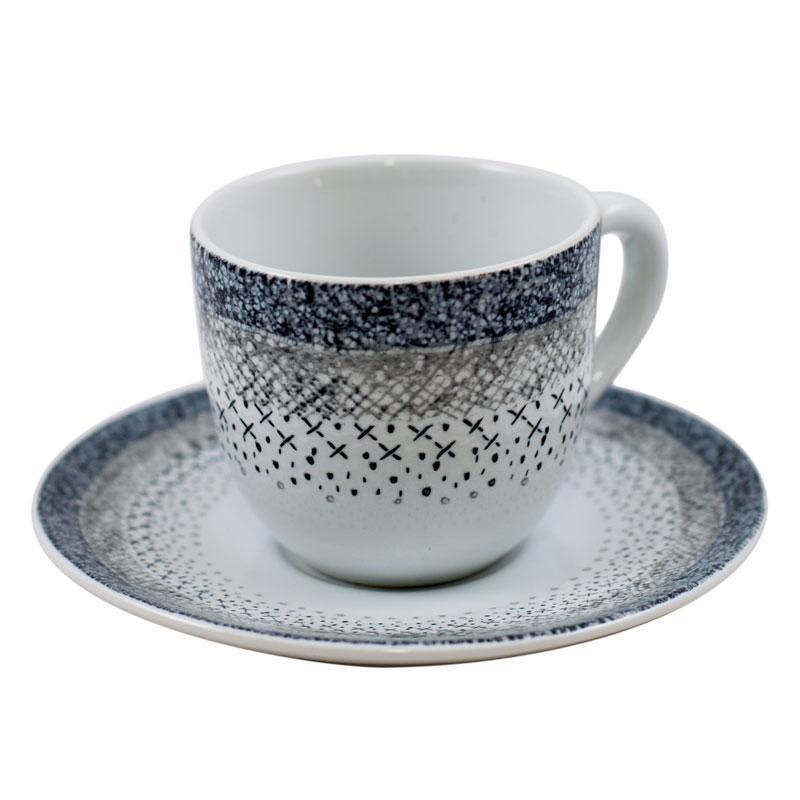Набор чашек с блюдцем для кофе Франция Bastide Stella 100 мл, 6 шт