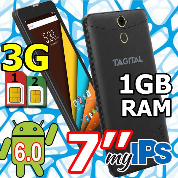 Планшет- телефон Tagital T7N (3G) 2 сим IPS 1GB\8GB  HD + Чехол в ПОДАРОК