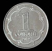 Монета Таджикистана 1 сомони 2019 г. Мирзо Турсунзода