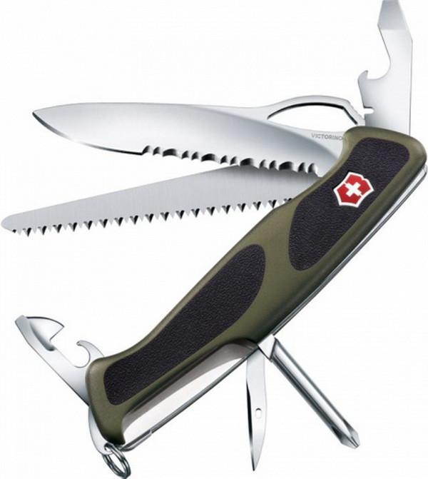 Нож складной, мультитул Victorinox Rangergrip 178 (130мм, 12 функций), зеленый 0.9663.MWC4
