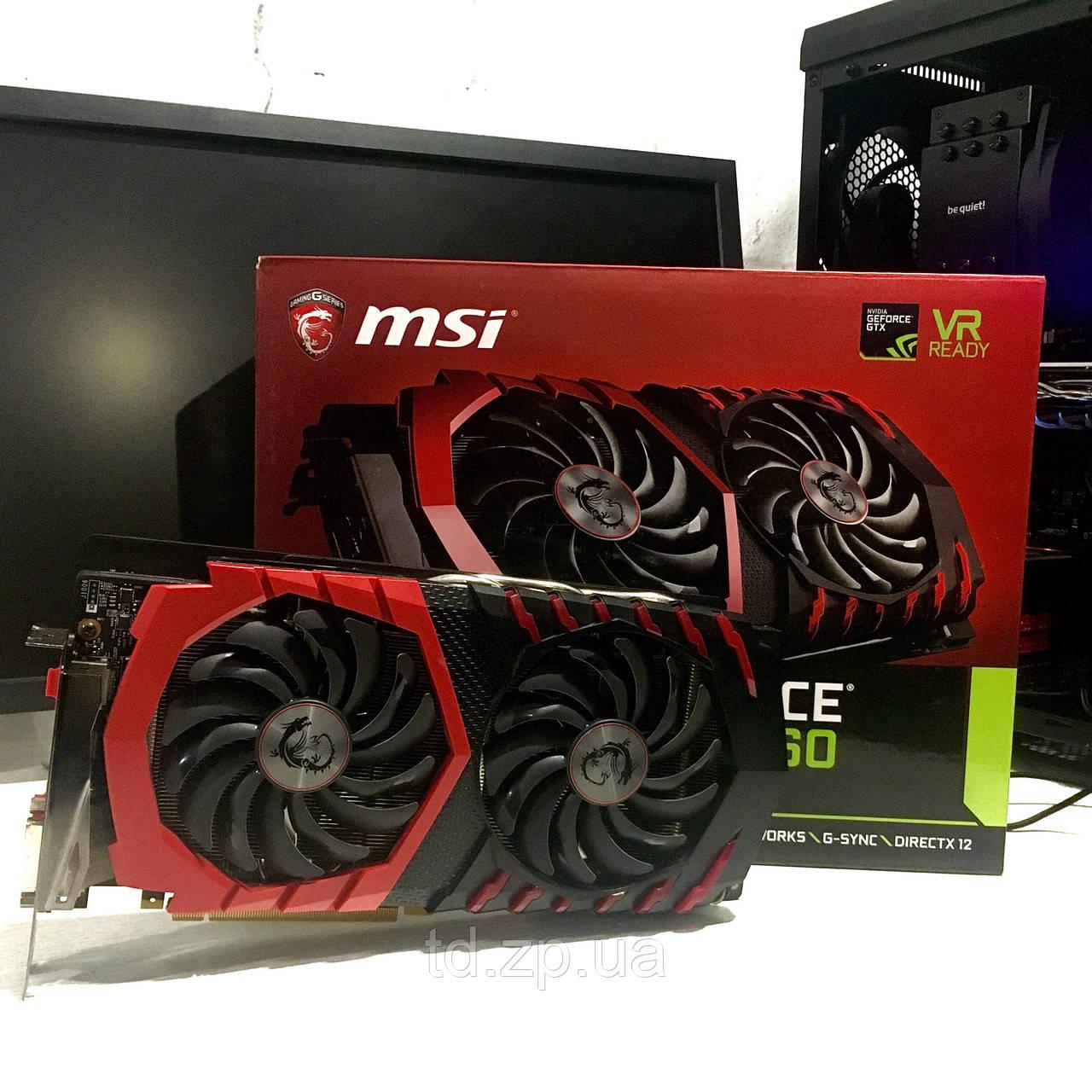 Видеокарта MSI GTX 1060 6Gb GAMING X