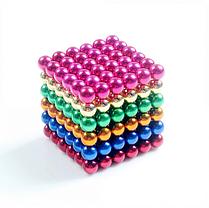 Головоломка Neocube развивающий конструктор Неокуб в боксе 216 магнитных шариков 5 мм радуга