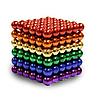 Головоломка Neocube развивающий конструктор Неокуб в боксе 216 магнитных шариков 5 мм радуга, фото 3