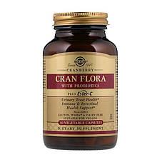 """Клюква с пробиотиками SOLGAR """"Cran Flora with Probiotics"""" здоровье мочевыводящих путей (60 капсул)"""