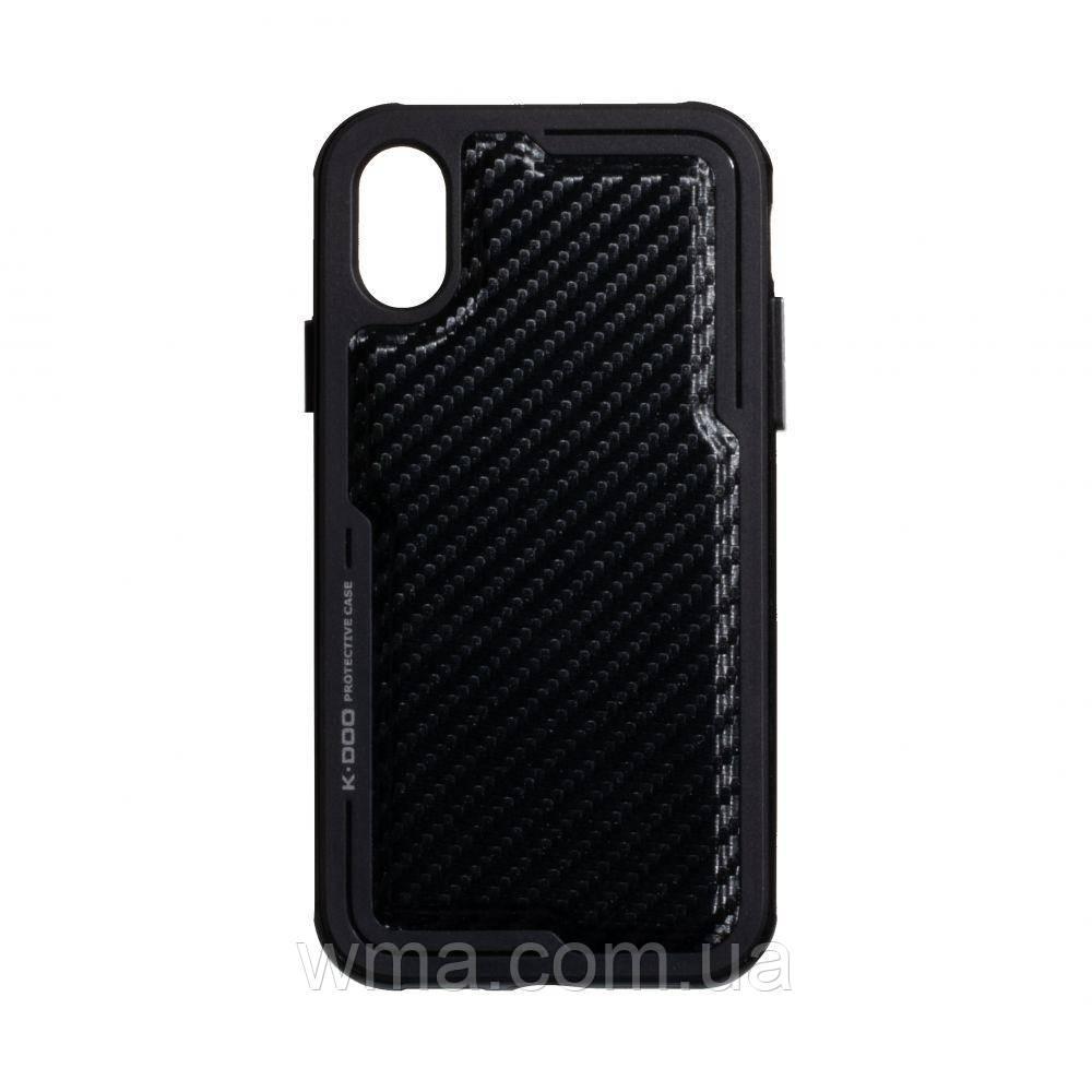 Чехол для телефонов (Смартвонов) Задняя Накладка K-Doo Luxe for Apple Iphone X / Xs Цвет Карбон Чёрный