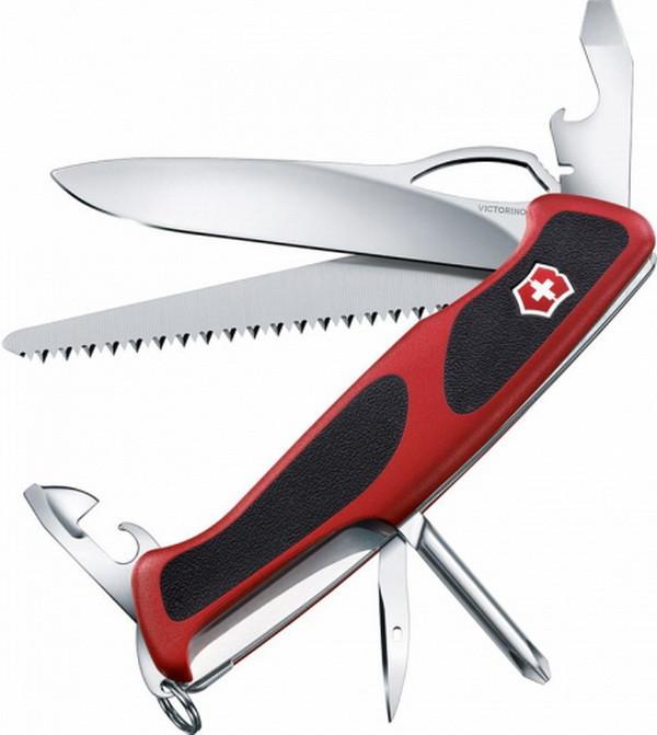 Нож складной, мультитул Victorinox Rangergrip 78 (130мм, 12 функций), красный 0.9663.МC