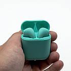 Bluetooth наушники Airpods I9s + pop up мятные, фото 4