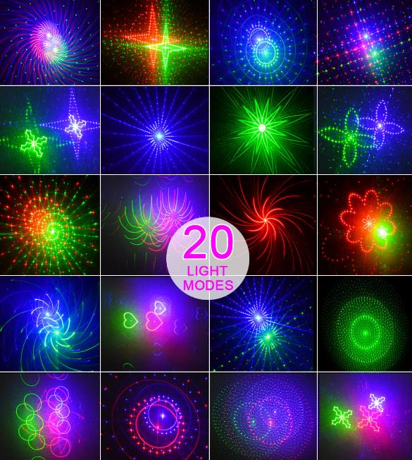 Светодиодный лазерный уличный проектор рисунки фейерверки Ecolend 31-2 IP 65  9W