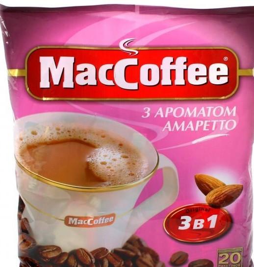 MacCoffee со вкусом Амаретто 3-в-1 1 пакетик