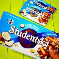 "Шоколад Studentska Duomix ""МОЛОЧНЫЙ-БЕЛЫЙ"" с арахисом и желе,180г"