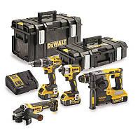 Набор из четырех инструментов аккумуляторных бесщеточных DeWALT DCK422P3